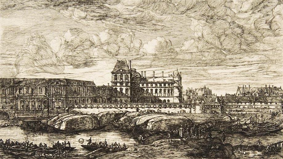 L'antico Louvre a Parigi in una veduta secentesca di Reinier Zeeman