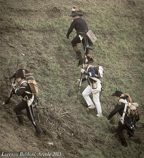 """Truppe Francesi in una ricostruzione storica del """"11ème Légère"""", da una foto di Lorenzo Baldoni"""