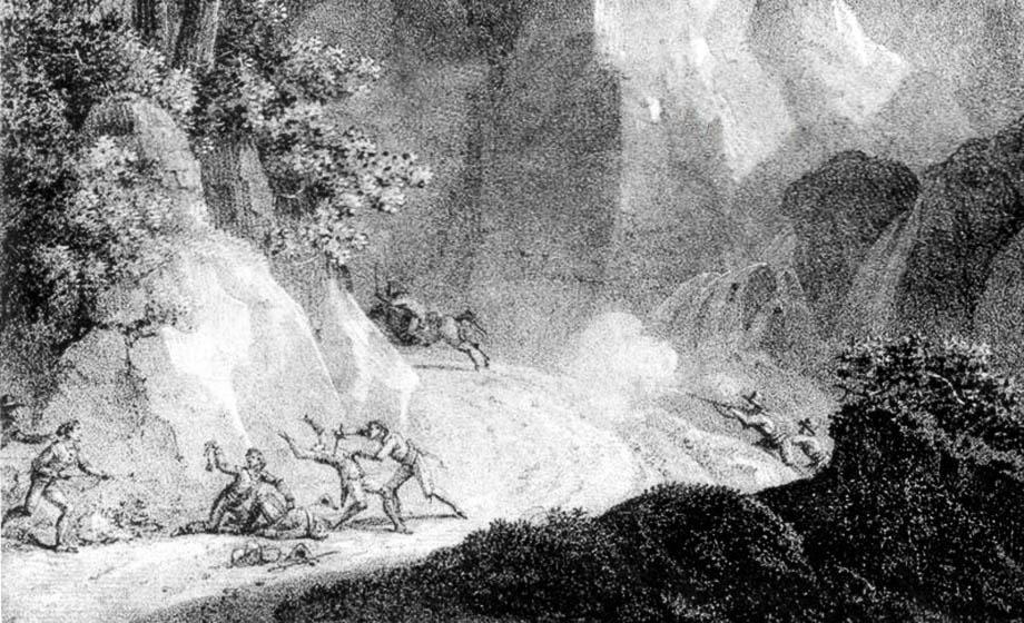 Imboscata dei Barbets alle Gorges du l'Escarene
