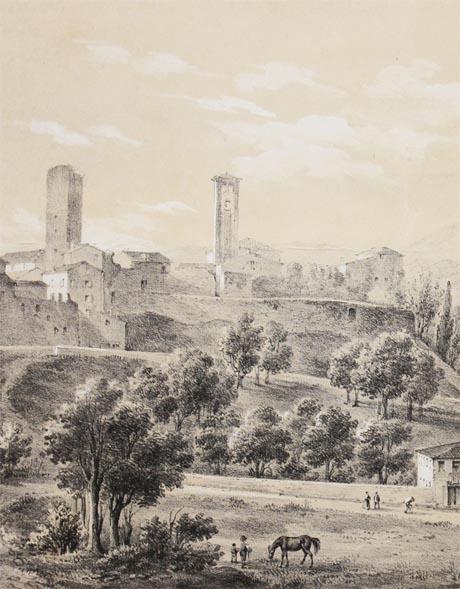Storia di Venezia - Particolare da una rara veduta del Castello di Bassano
