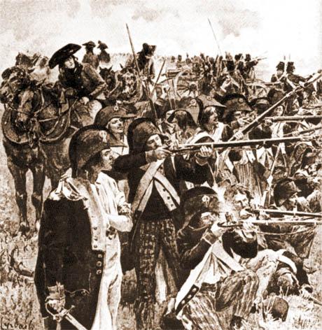 Il Bataillon carré, fantaccini e artiglieri repubblicani in combattimento