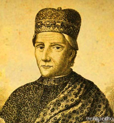 Storia di Venezia, battaglia di Salvore: Il Doge Sebastiano Ziani, artefice della pace, assieme al figlio di Federico Barbarossa, Ottone.