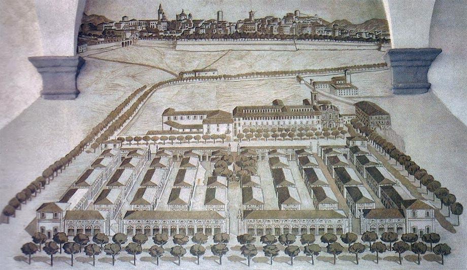 Storia di Venezia - Disegno dell'Insigne Fabrica della Fiera di Bergamo 1732 - 1739