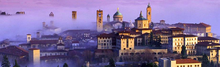 Storia di Venezia - Suggestiva veduta di Bergamo Alta