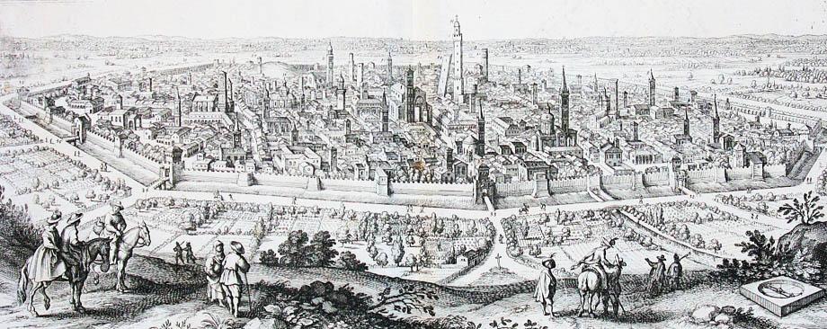 Veduta di Bologna nel XVII Secolo