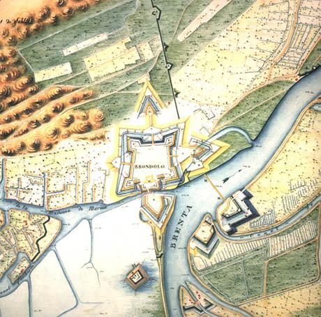 Storia di Venezia - Mappa del Forte di Brondolo