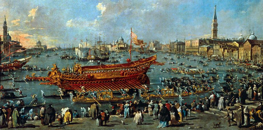 Storia di Venezia - Il Bucintoro in Bacino di San Marco