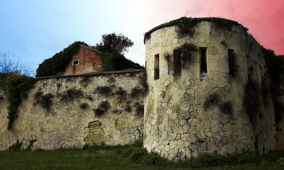 Il lato del Castello di San Felice che minaccia direttamente la città di Verona