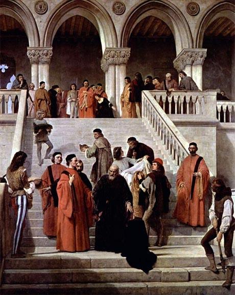 Storia di Venezia - Il Consiglio dei Dieci in una fantasia storica sull'esecuzione di Marin Faliero, di Francesco Hayez
