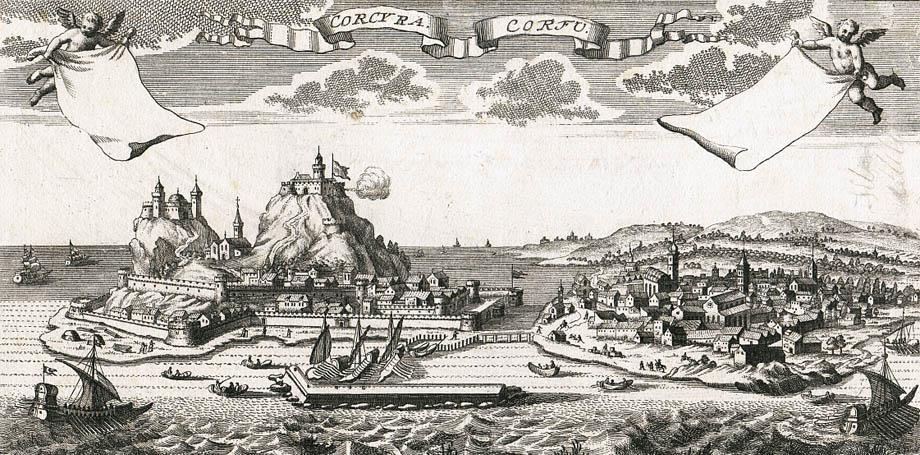 Storia di Venezia - Il Porto di Corfù in una veduta del 1725