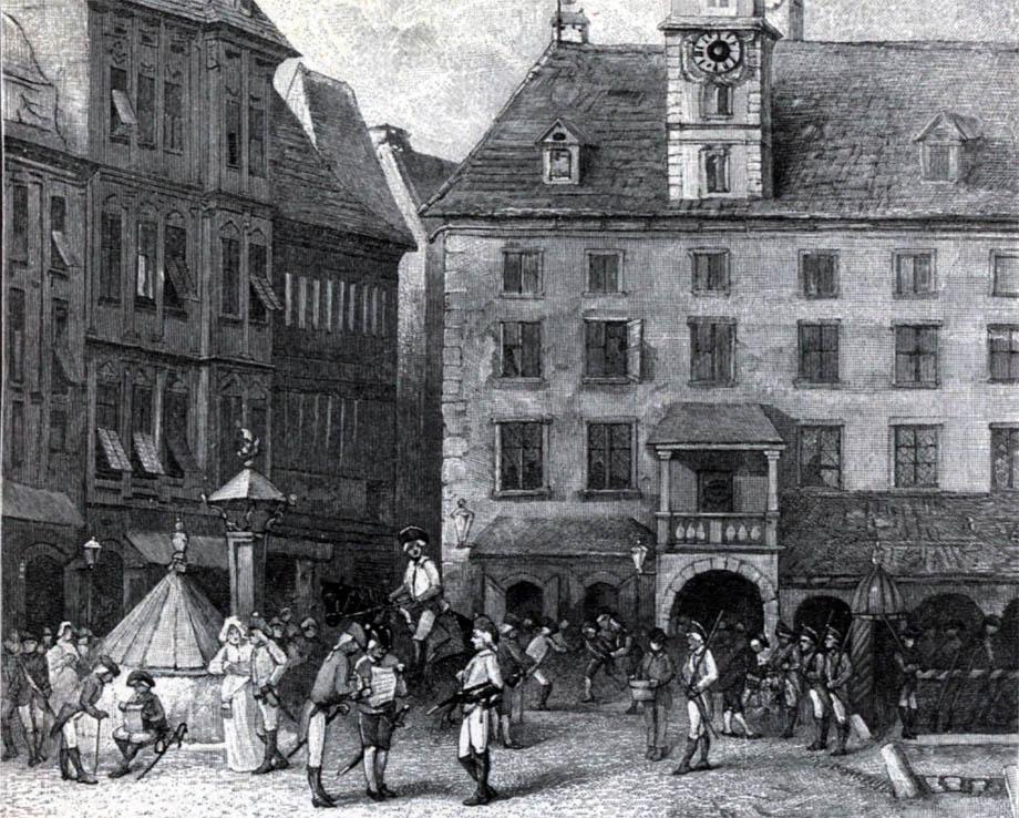Storia di Venezia, cittadini di Graz e soldati francesi  nell'Aprile 1797