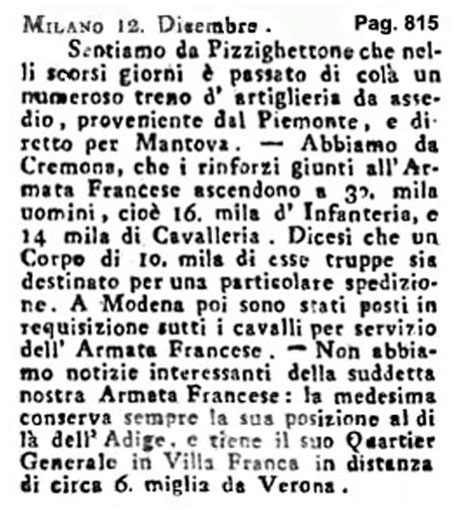 Storia di Venezia - Gazzetta Universale, n. 102 pubblicata Martedì 20 Dicembre 1796