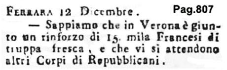 Storia di Venezia - Gazzetta Universale, n. 101 pubblicata Sabato 17 Dicembre 1796