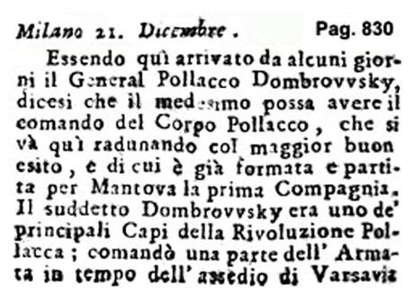 Storia di Venezia - Gazzetta Universale, n. 104 pubblicata Martedì 27 Dicembre 1796