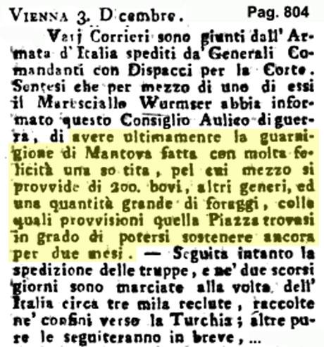 Storia di Venezia - Gazzetta Universale, n. 100 pubblicata Martedì 13 Dicembre 1796