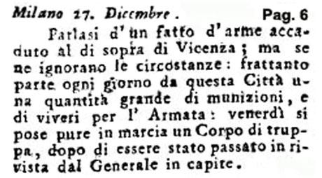 Storia di Venezia - Gazzetta Universale, n. 1 pubblicata Martedì 3 Gennaio 1797