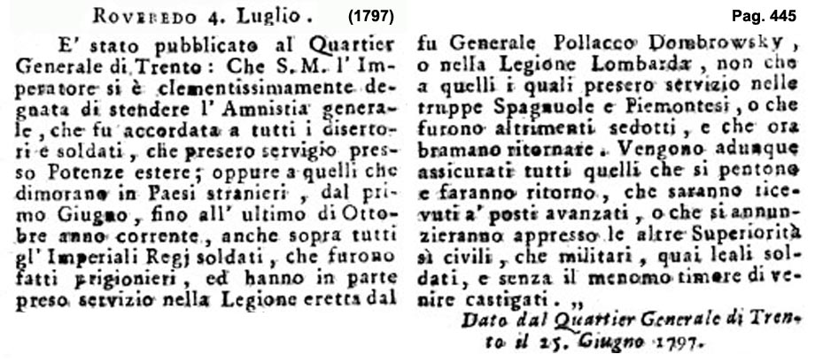 Storia di Venezia - Gazzetta Universale, n. 56 pubblicata Sabato 15 Luglio 1797