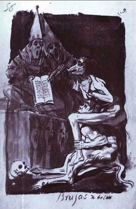 Streghe pronte a volare, Francisco de Goya, 1796