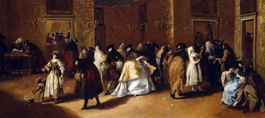 Storia di Venezia - Un salotto pubblico veneziano (riduto) in un quadro di Francesco Guardi