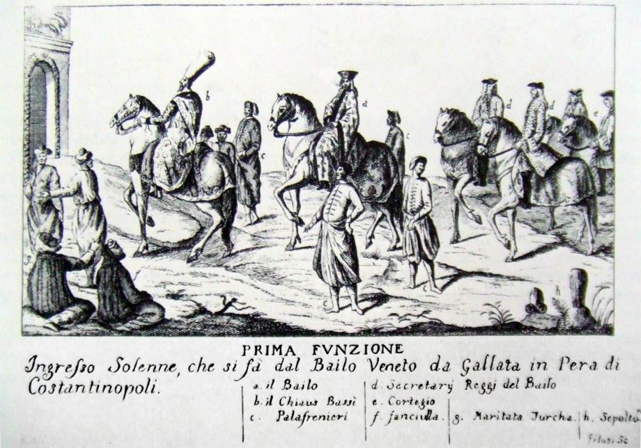 Storia di Venezia - Ingresso del Bailo Veneziano a Pera di Costantinopoli
