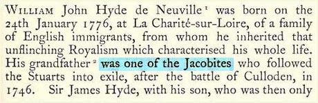 Nota sui Giacobiti di Hyde de Neuville