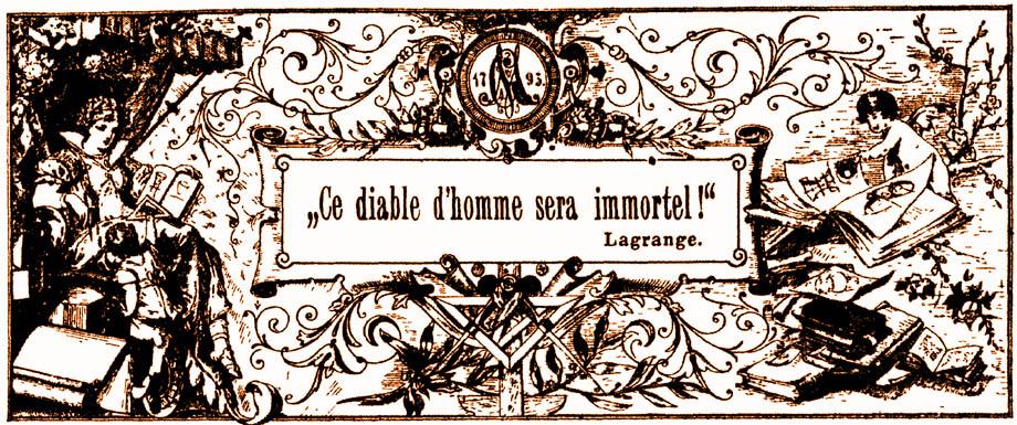 Omaggio a Eulero del matematico italiano Giuseppe Lodovico Lagrangia, meglio noto come Joseph-Louis Lagrange