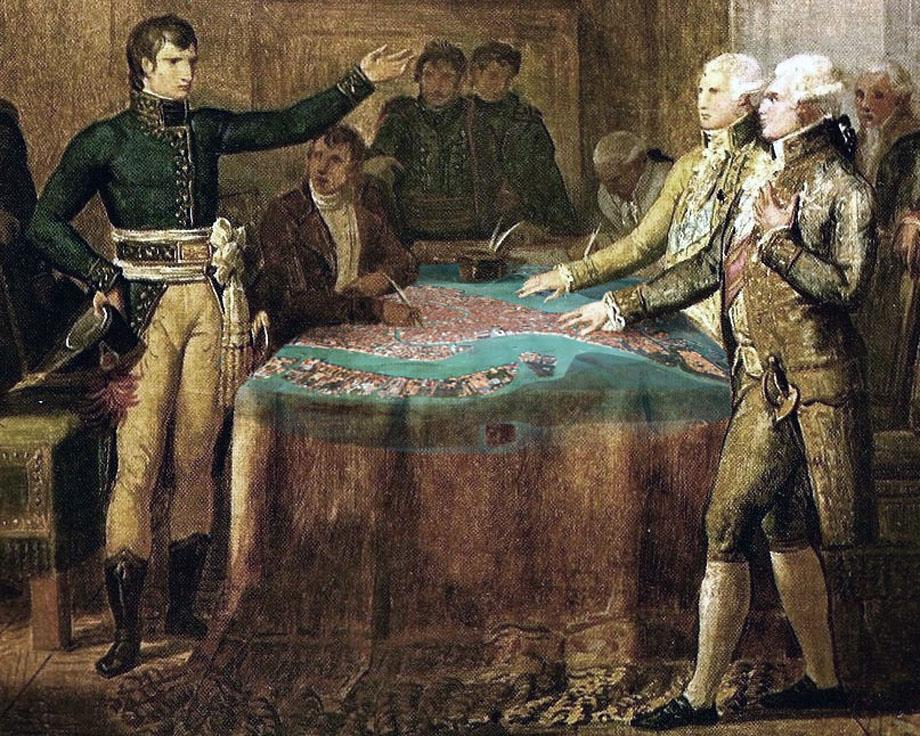 Storia della Caduta di Venezia - Firma del Trattato di Leoben