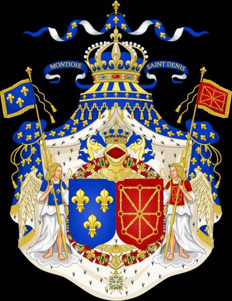 Stemma di Luigi XVIII, Re di Francia e Navarra
