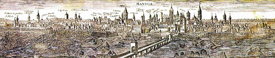 Skyline di Mantova nel 1730