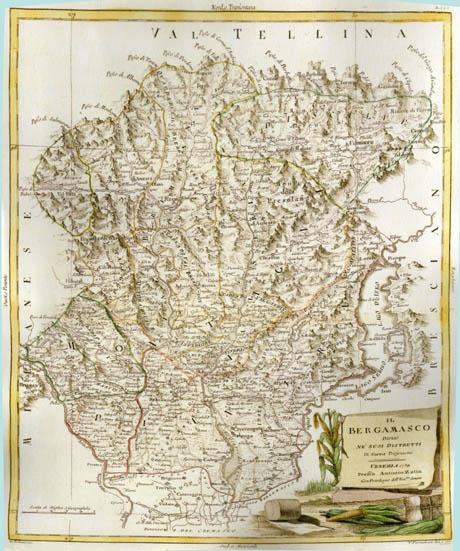 Storia di Venezia - Mappa della Bergamasca nel 1780, click per vedere l'immagine a risoluzione leggibile