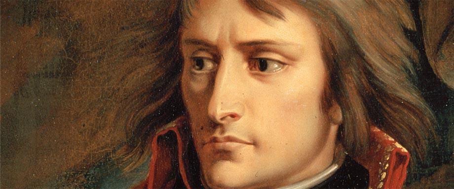 Napoleone in un quadro di Gros, visto allo specchio