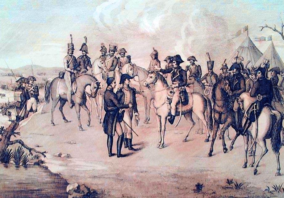Storia di Venezia - Napoleone a Lonato nei primi d'Agosto 1796