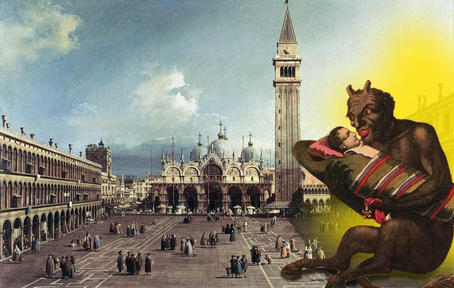 Napoleone cullato in Venezia
