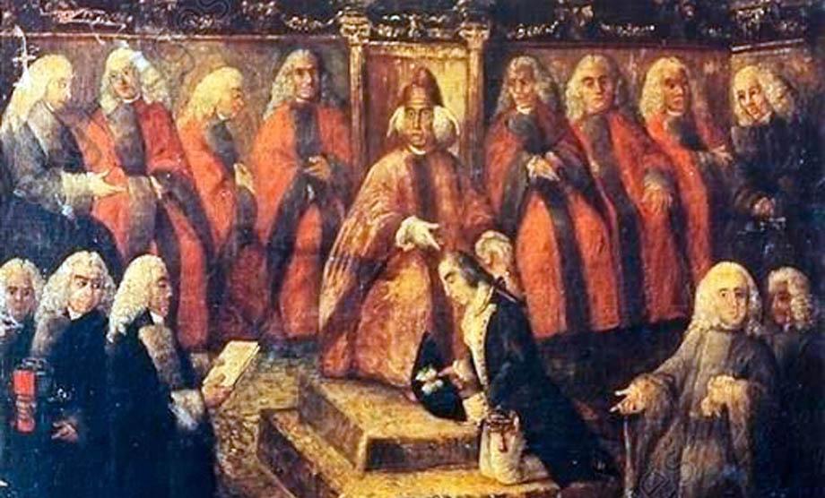 Storia di Venezia - Stefano Nonveiller riceve dal Doge Manin l'ordine di sedare la rivolta bergamasca