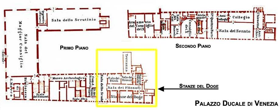 Storia di Venezia, le stanze del Doge in Palazzo Ducale a Venezia
