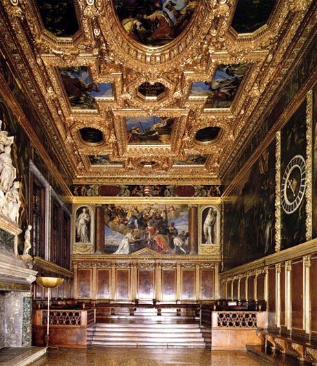 Storia di Venezia - La Sala del Minor Consiglio in Palazzo Ducale, a uso del Doge e del Suo Collegio