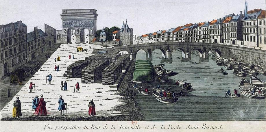 Veduta di Parigi al Pont de la Tournelle, XVIII Secolo.