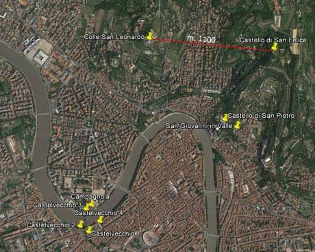 Storia della caduta di Venezia, mappa dei luoghi menzionati in questa pubblicazione, clic per ingrandire