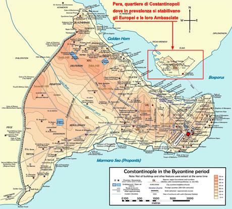 Storia di Venezia - Costantinopoli e Pera in epoca Bizantina - clic per ingrandire