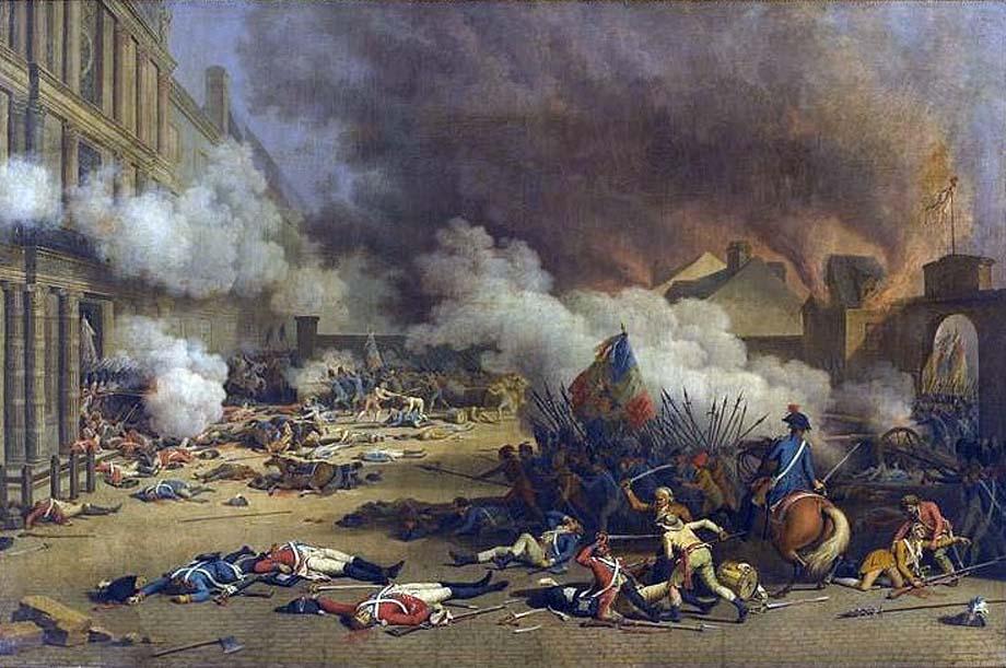 La Presa delle Tuileries il X Agosto 1792 da parte dei Giacobini in un dipinto di Jean Duplessis-Bertaux