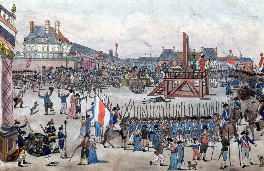 Decapitazione di Robespierre, Sain Just e altri del gruppo Giacobino 28 Luglio 1794