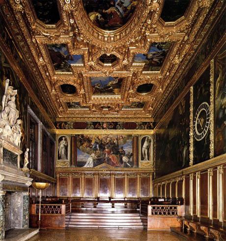 Storia di Venezia - Sala del Collegio in Palazzo Ducale a Venezia