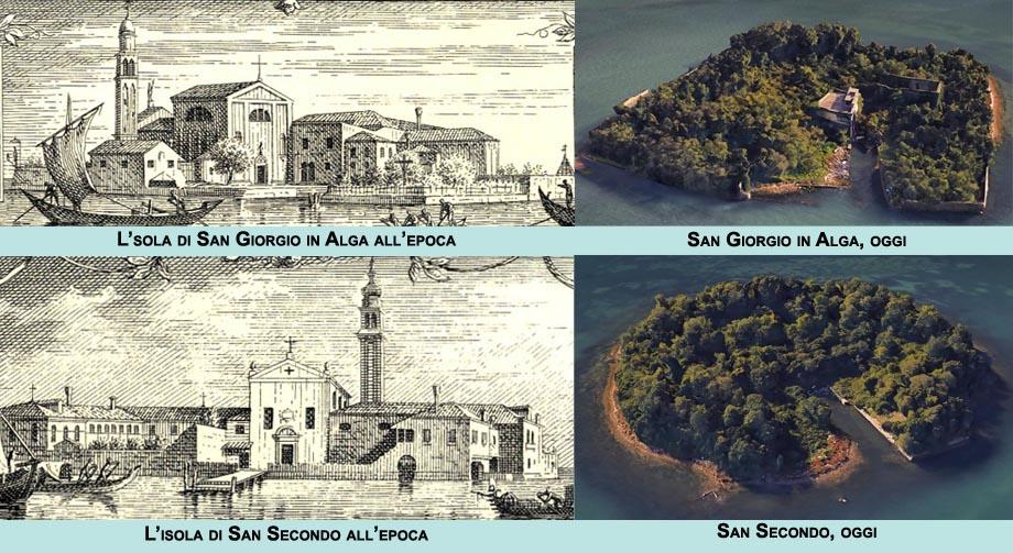 Storia di Venezia, le isole di San Giorgio in alega e San Secondo