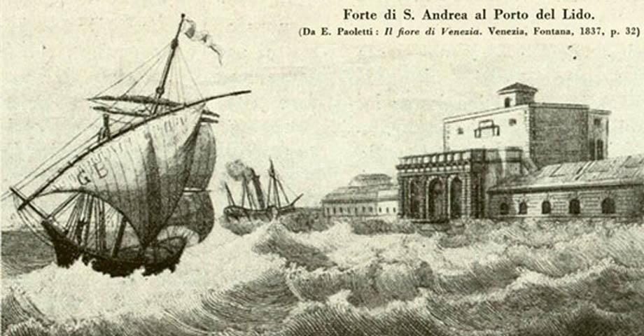 Storia di Venezia - Forte marittimo di Sant'Andrea, a Venezia