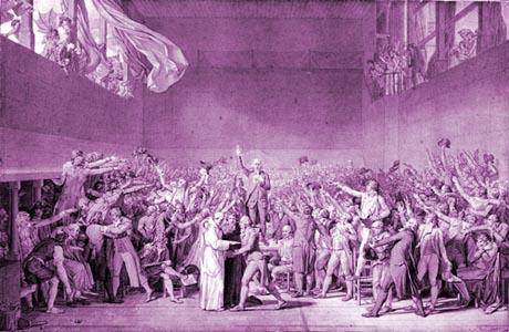 Una immagine degli Stati Generali in Francia: il Giuramento della Pallacorda