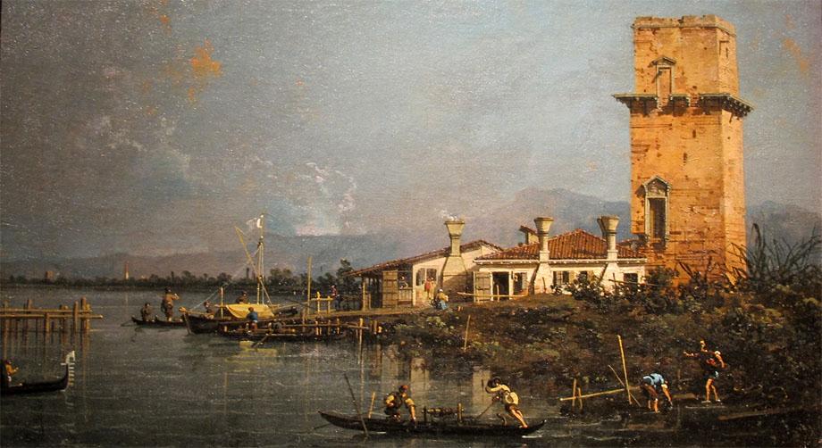 Storia di Venezia, la Torre di Marghera in un dipinto di Canaletto