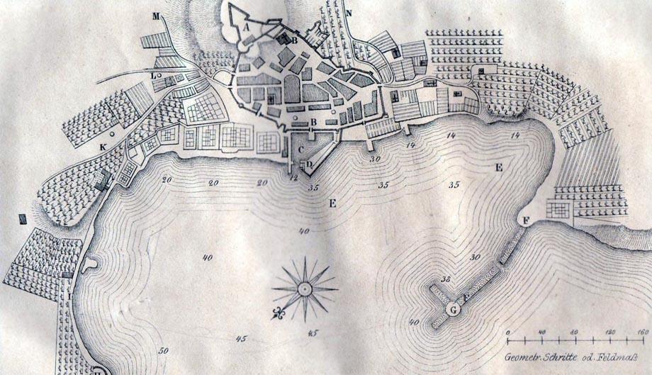 Mappa di Trieste nel 1718