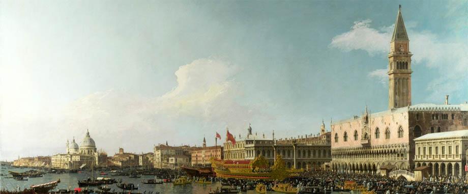 Storia di Venezia - Veduta di Venezia da un quadro di Francesco Canal