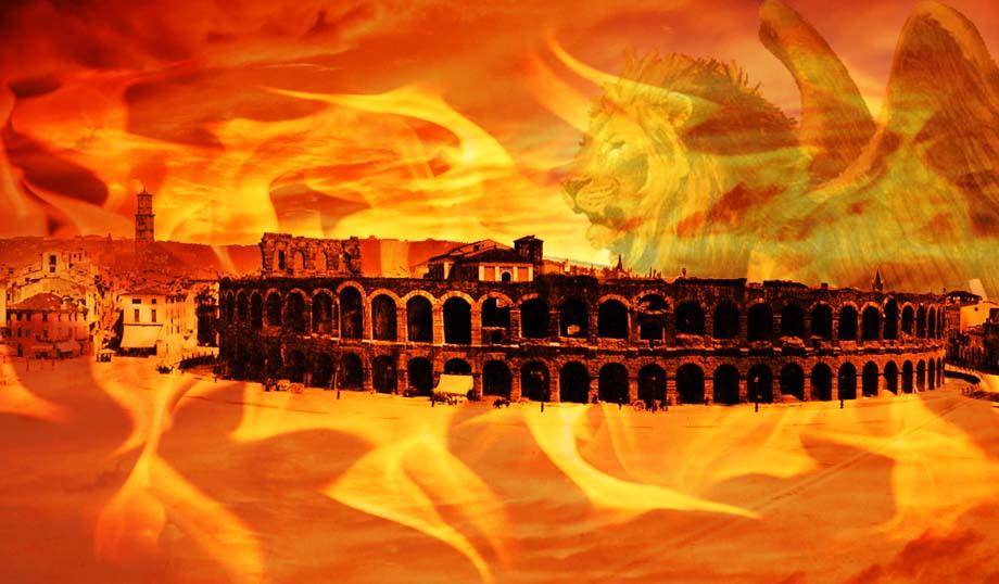 Storia di Venezia, Verona si infiamma alla difesa dagli invasori.