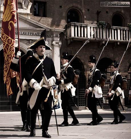 Storia di Venezia - Truppe Venete in una ricostruzione storica, da una foto di Fabrizio Zuccarato